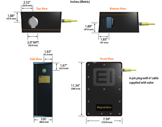 700-24 Vdc MagnaValve Electronics Inc
