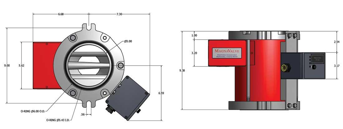 500-24 MagnaValve dimensions
