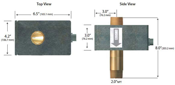 590-24 MagnaValve dimensions - Electronics Inc