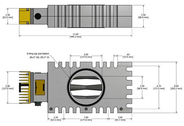 LP-24HT MagnaValve Dimensions - Electronics Inc