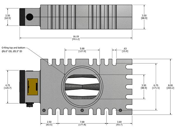 LP-24 MagnaValve Dimensions - Electronics Inc