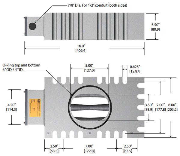 LP2000 MagnaValve Dimensions - Electronics Inc