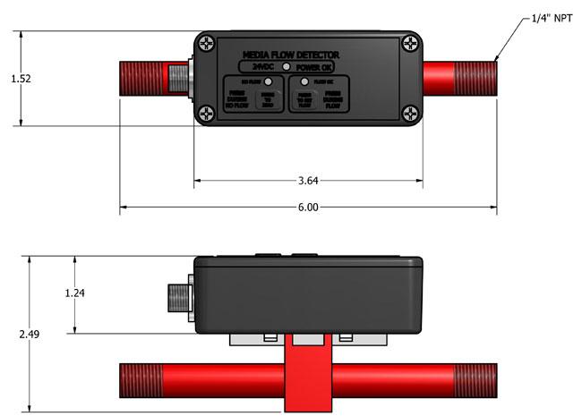MFD-250 Sensor dimensions