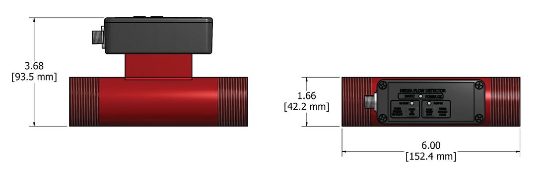 MFD-P1 Sensor Dimensions - Electronics Inc