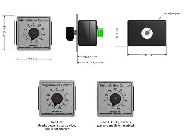 POT-24 Controller dimensions - Electronics Inc