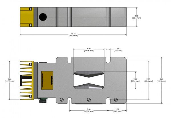 VLP-24HT MagnaValve Dimensions - Electronics Inc