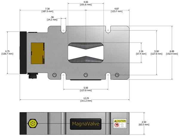 VLP-24 MagnaValve Dimensions - Electronics Inc