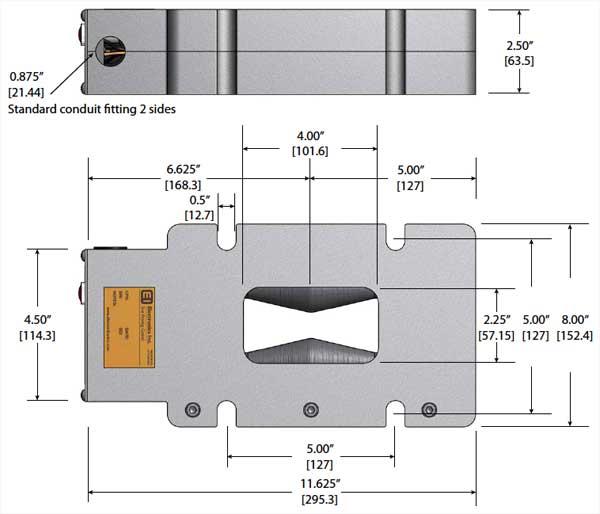 VLP1000VAR MagnaValve Dimensions - Electronics Inc