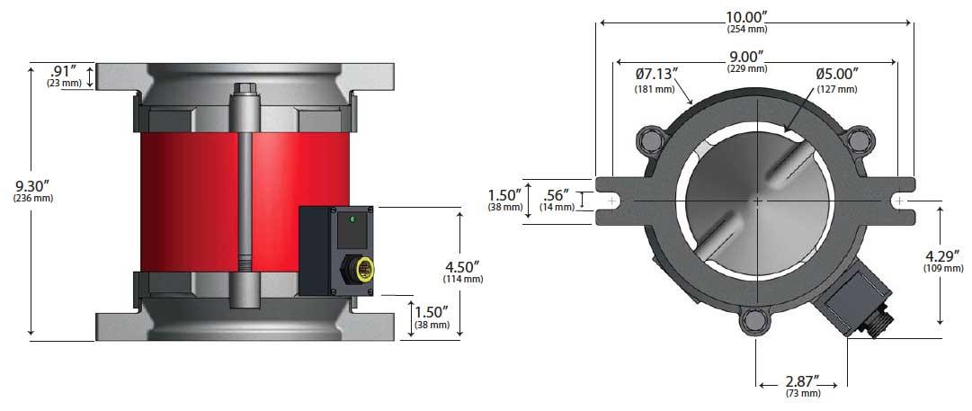 WM3000-24 Magnavalve dimensions - Electronics Inc.